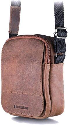 7c90266c93e8d StylowaTorba.pl Jasno brązowa listonoszka męska torba na ramię Brodrene