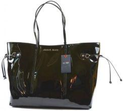 978a4bf6e6359 StylowaTorba.pl Armani Jeans torebka damska czarna shopperka lakierowana