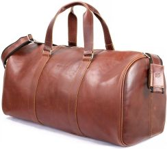 e1884eee9e064 StylowaTorba.pl Skórzana torba podróżna na ramię Brodrene koniack smooth  leather