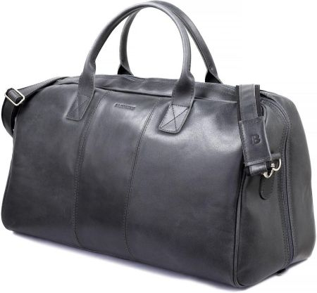 35ae7714f7d70 StylowaTorba.pl Podróżna torba na ramię ze skóry Brodrene grafit smooth  leather