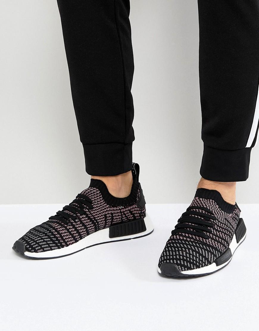 sale retailer 8fd22 eb398 adidas Originals NMD R1 STLT Trainers In Black CQ2386 - Black