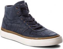 99cb3aba026ea Sneakersy TOMMY HILFIGER - Unlined Mid Cut Nubuck Sneaker FM0FM01628  Midnight 403 eobuwie