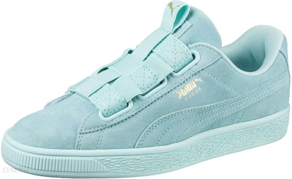 Sneakersy PUMA Suede Heart Pebble Wn's 365210 03 AquiferBlue Flower