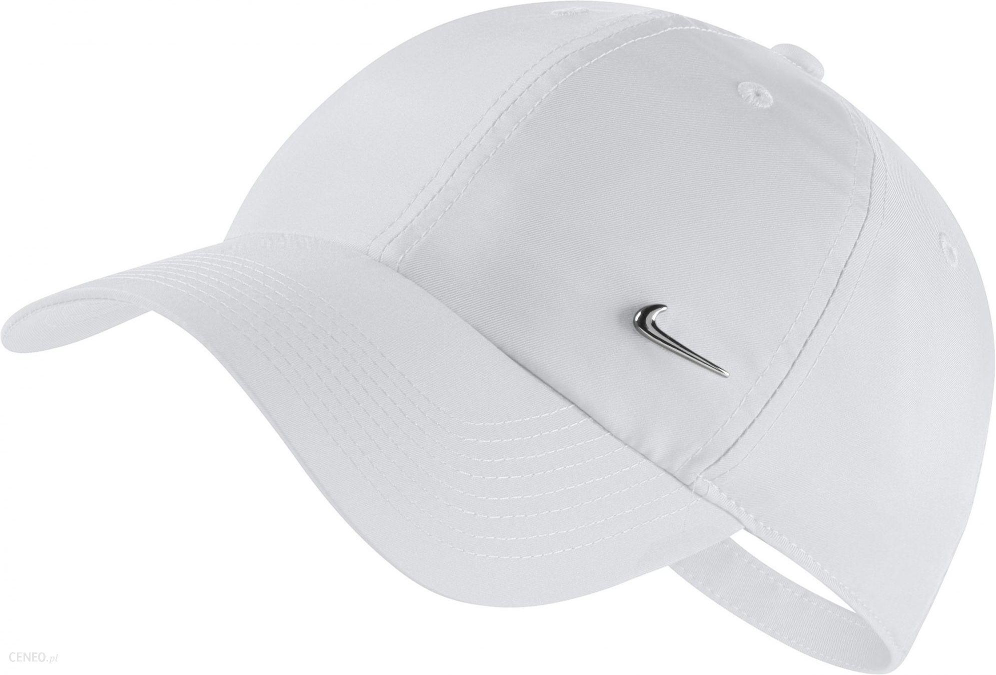 online store 60ffd 985c2 Nike U NSW H86 Cap NK Metal Swoosh White Metallic Silver - zdjęcie 1