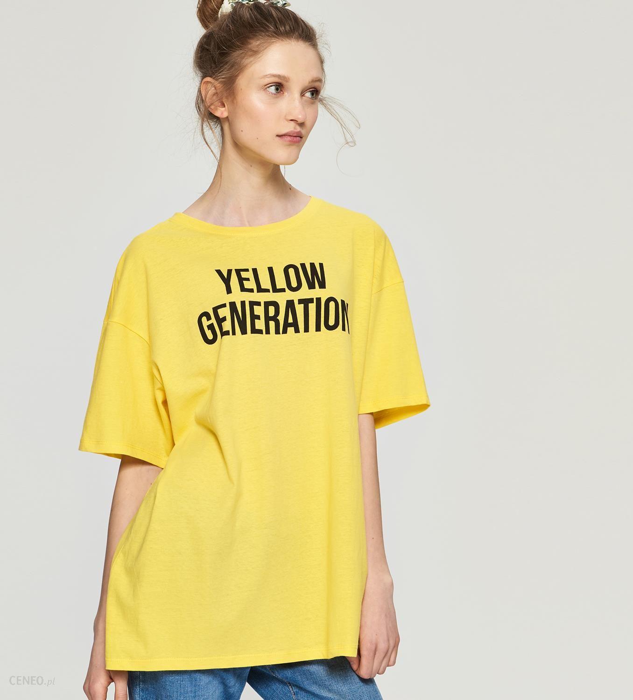 03ae37252 Sinsay - Koszulka z napisem - Żółty - Ceny i opinie - Ceneo.pl