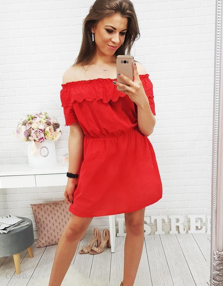 Sukienka hiszpanka ASMA czerwona (ey0372) Czerwony Ceny i opinie Ceneo.pl