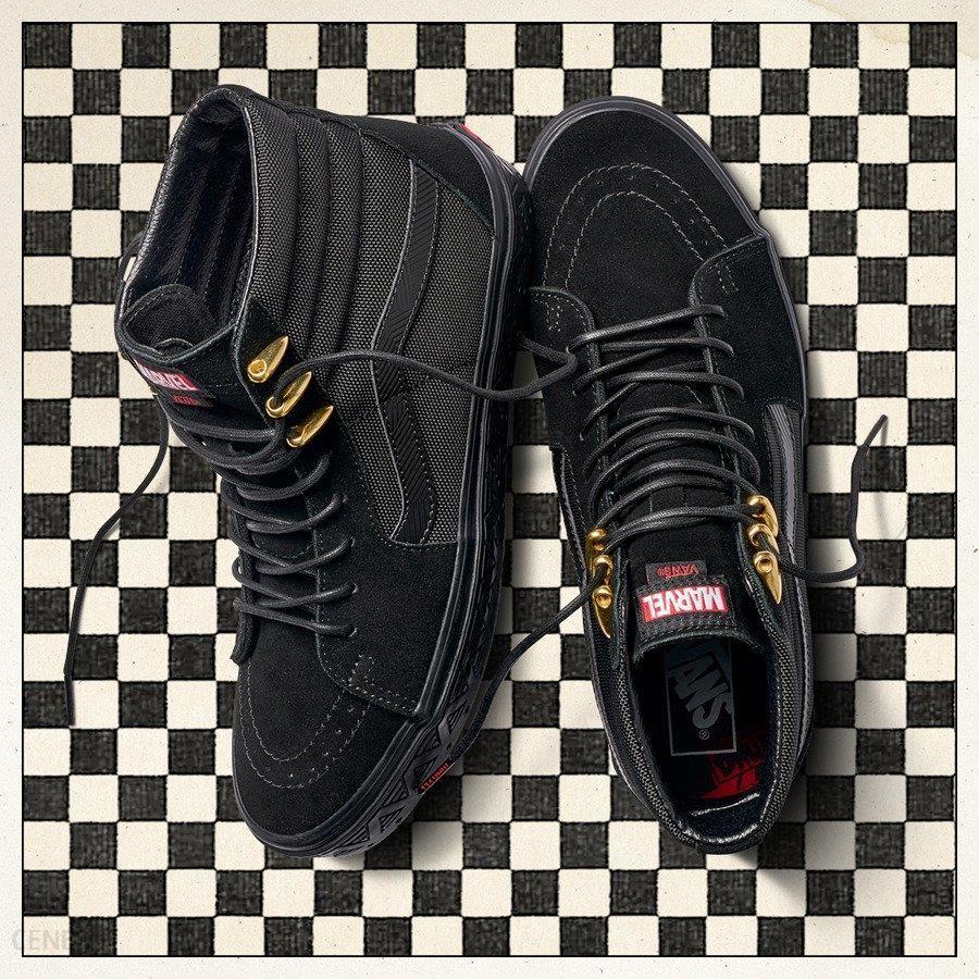 Buty damskie sneakersy Vans Sk8 Hi x Marvel Black Panther VA38GEUBH czarnyszary , , CZARNY Ceny i opinie Ceneo.pl