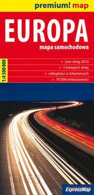 Europa Mapa Samochodowa Europy 1 4 500 000 Ceny I Opinie
