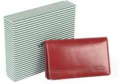 767e0af499d22 Damski mały portfel skórzany Vip Collection London 14 Czerwony - Red