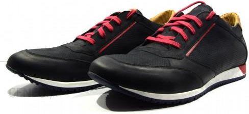 0c2b2af3 Obuwie męskie półbuty sportowe buty modne skórzane polskie Wojas czarny G7c  - zdjęcie 1