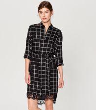 9ad3ced7a9 Mohito - Koszulowa sukienka w kratę - Czarny - Ceny i opinie - Ceneo.pl