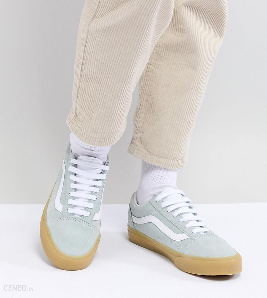 Vans Old Skool Pastel Mint Trainers With Gum Sole Blue Ceneo.pl