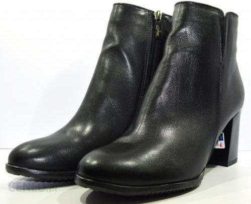 60328168d2af7 Obuwie damskie zimowe botki buty modne skórzane polskie Janta czarne 16434  - zdjęcie 1