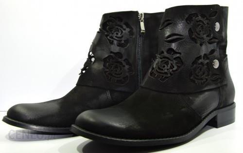 714630d6c4813 Obuwie damskie botki wiosna jesień zima buty modne skórzane polskie But  czarne 996 - zdjęcie 1