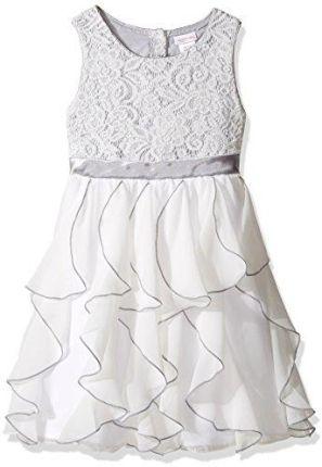 333137edb9 Amazon Fantastyczna wodospad z falbankami petticoat sukienka z koronką  firmy Emily West rozm. 128