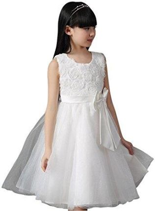 0dc3900047 Amazon Sklep Ginger Wedding sukienka dziewczęca Czarny Czarny - 10 czarny i  biały