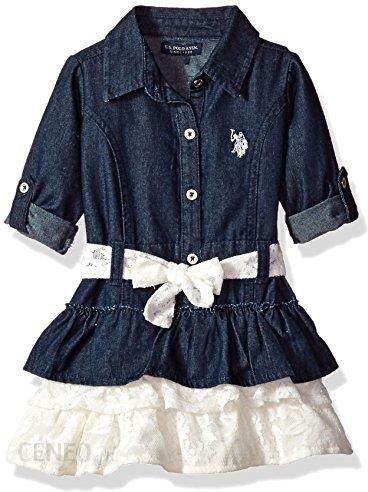 c9c6fb7cbb Amazon U.S. Polo assn. dziewcząt Casual sukienka na czas wolny ubranie -  Dark Wash -