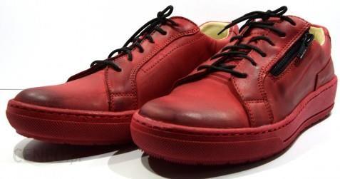 add30f8d Obuwie damskie półbuty modne buty skórzane polskie Wasak czerwony 0439 -  zdjęcie 1