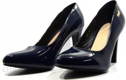 ba6b73c12fd18 Obuwie damskie czółenka buty modne i wygodne Sergio Leone granat 1457 -  zdjęcie 1