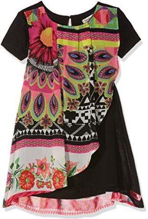 2ab9a6e3e2 Amazon Desigual sukienka dziewczęca Vest   bissau - czarny (Negro 2000)