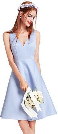 f8e706e2c146 Amazon Ever Pretty bez rękawów głęboko sukienka koktajlowa V-wycięciem pod  szyją wysoka talia wieczorowa