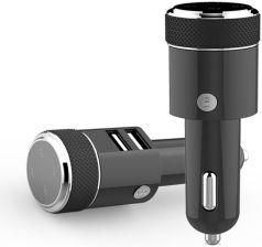 3,1A Podwójna ładowarka samochodowa USB Wielofunkcyjny odtwarzacz muzyczny Bluetooth Modulator nadajnika FM z aplikacją GPS Locator czarny