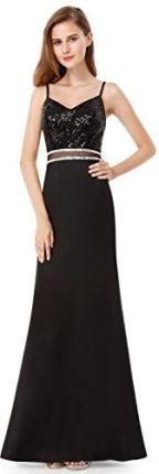 03e50ebbe1 Amazon Ever Pretty seksowne pidżamy z cekinami sukienka na ramiączkach  suknie wieczorowe Maxi sukienki 07022 -