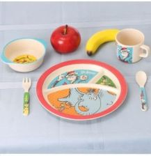 Vandor Dr. Seuss 5 Piece Bamboo Meal Time Set (VA17004ST)