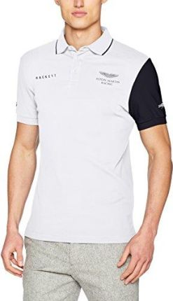 Amazon hackett London męska koszulka polo AMR contrs SLV - krój regularny  xxl 826e0272e39a