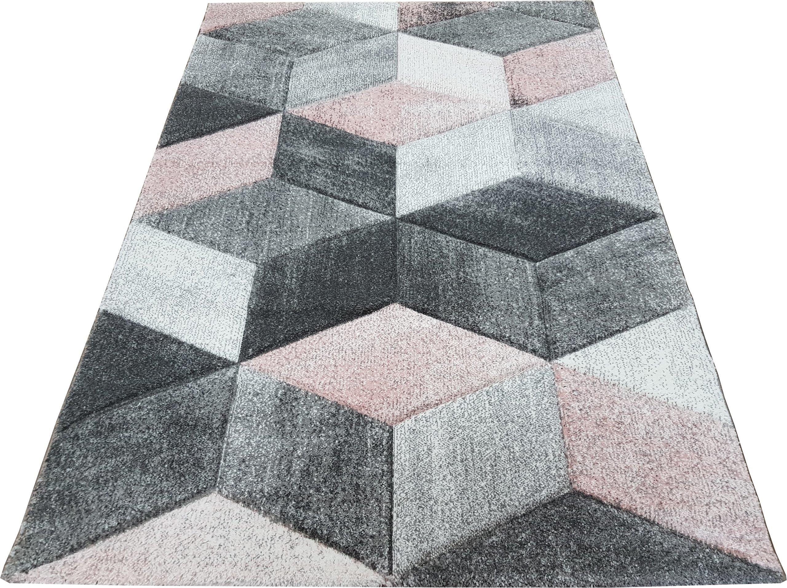 Dywan Diamond 3d 80x150 Geo Szaro Różowy Daisy Opinie I Atrakcyjne Ceny Na Ceneopl