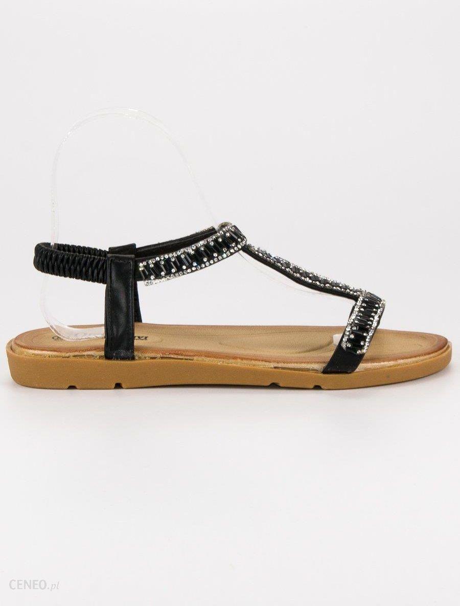 Queen Vivi Płaskie Sandały Espadryle czarne | Sandały