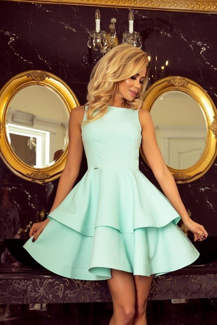 a509f713bf Numoco 169-4 Sukienka CRISTINA rozkloszowana - MIĘTOWA - Ceny i ...