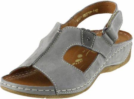Damskie sandały Płaskie na rzepy NIK 07 0095 R.41