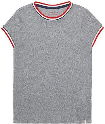 498149389 Amazon Esprit dziewczyny T-Shirt - krój regularny szary (Mid Heather Grey  260). Bluzka dziecięca ...