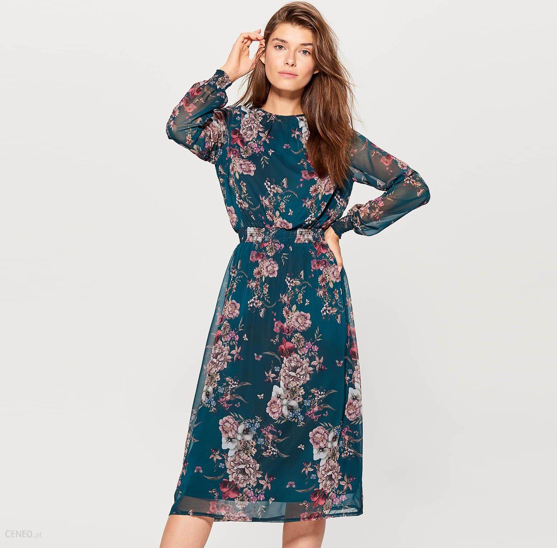 951c6e8534 Mohito - Szyfonowa sukienka w kwiaty - Wielobarwn - Ceny i opinie ...