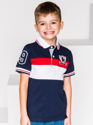 5279eac08 Koszulka patriotyczna dziecięca Orzeł Sport (JASNY MELANŻ) 7 - 8 lat ...