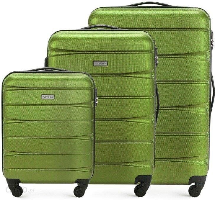 970f5ff4639a5 Zdjęcie Zestaw trzech walizek WITTCHEN 56-3A-36S zielony - zielony - Łódź
