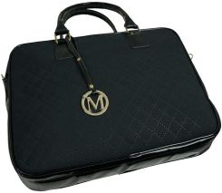 manzana biznes styl torba na laptopa czarna