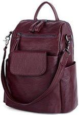85ba638a76308 Amazon uto damskie Back Pack Purse myte Ladies plecak na ramię ze skóry PU  Tasch Czarny