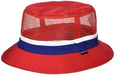d601ddaf9d1 Amazon Brixton męski kapelusz Hardy Bucket Hat Czerwony granatowy  (marynarski) - XS