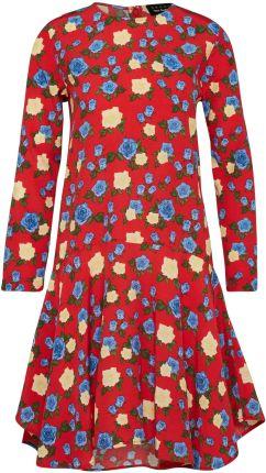 1cbab89c9c Podobne produkty do 13-49 Sukienka sportowa - ECRU + kolorowe duże CZERWONE  kwiaty