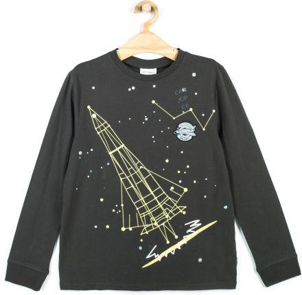 8535a79c0a1970 Tchibo Koszulka, niebiesko-biała w paski z nadrukiem - Ceny i opinie ...