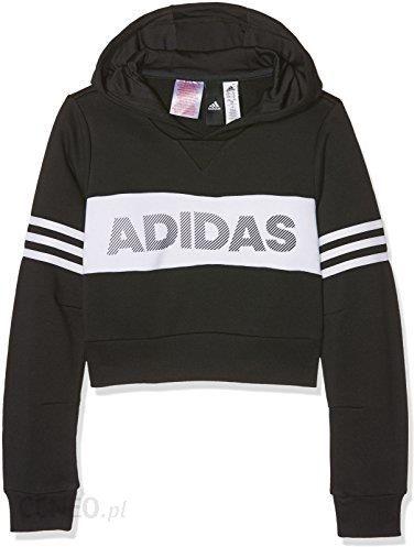 Amazon Adidas dziewczęce ID Cropped bluza z kapturem, czarny, 164 Ceny i opinie Ceneo.pl
