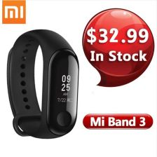 AliExpress In Stock Xiaomi Mi Band 3 Smart Wristband fitness tracker Bracelet 0.78'' OLED Display Touchpad Bluetooth 4.2 For Android IOS