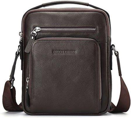 019c33f699f58 Amazon Bison Denim męski skórzany torba na ramię torba podróżna mała torba  na ramię torby ręczne