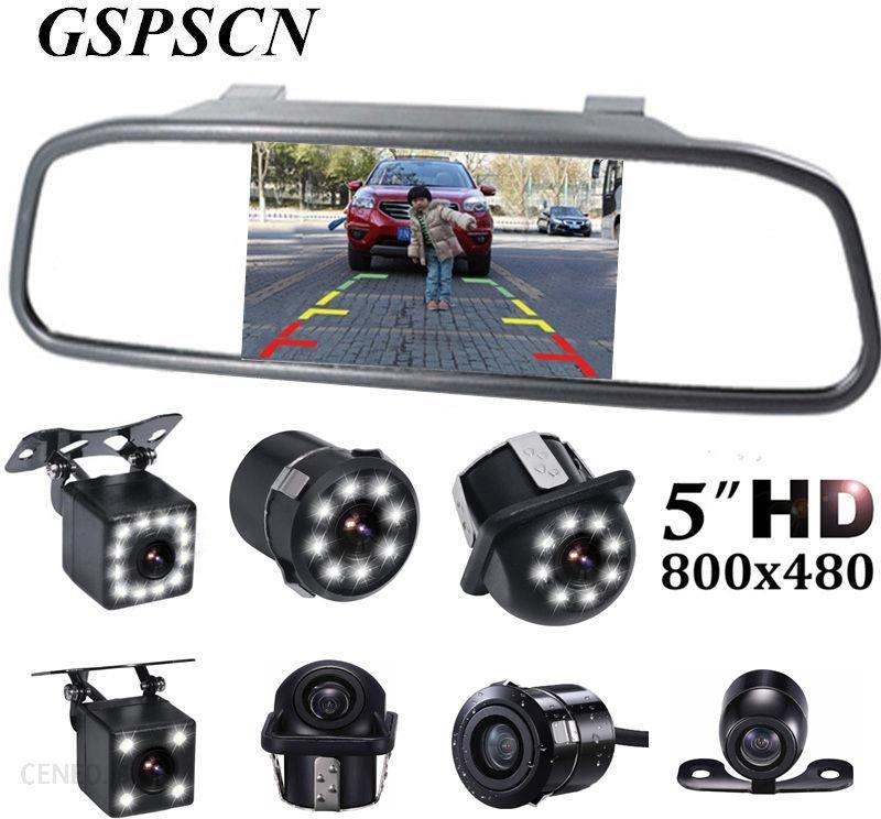 CCD Night Vision Reverse Backup Camera 5/'/' LCD HD Car Rear View Mirror Monitor