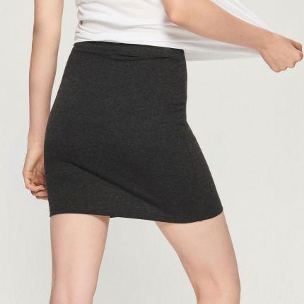 ee230004292665 Sinsay - Dzianinowa spódnica mini - Szary ...