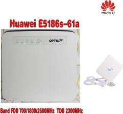 AliExpress Huawei E5186 E5186S-61A 4G Cat6 802 11ac 300Mbps LTE CPE wifi  router +High Quality Indoor 35dBi SMA Male 4G Antenna Cable Length -  Ceneo pl