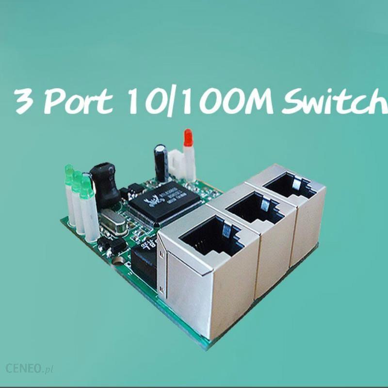 AliExpress OEM manufacturer company direct sell Realtek chip RTL8306E mini  10/100mbps rj45 lan hub 3 port ethernet switch pcb board - Ceneo pl