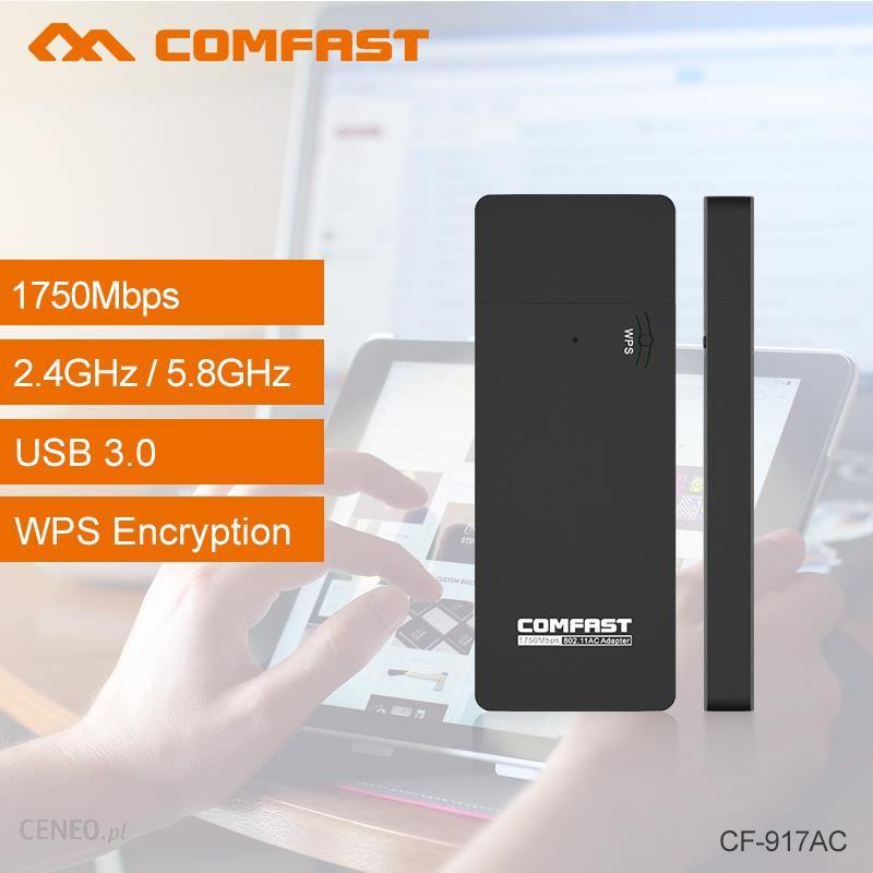 AliExpress COMFAST CF-917AC Mini USB Wi fi adapter Dual Band 2 4G+5 8G  1750Mbps Wireless N wifi dongle 802 11ac wi-fi adapter RTL8814AU - Ceneo pl
